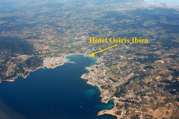 Hotel Osiris situation from the air